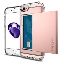 Apple Compatible Spigen Crystal Wallet Case - Rose Gold