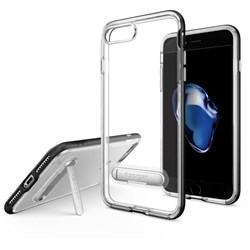 Apple Spigen Crystal Hybrid Case With Kickstand - Black  043CS20680