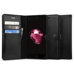 Apple Spigen Valentinus Premium Leather Folio Case With Card Holder - Black  043CS20984