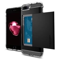 Apple Compatible Spigen Crystal Wallet Case - Black