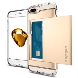 Apple Compatible Spigen Crystal Wallet Case - Gold