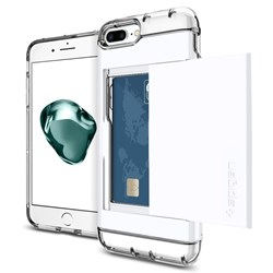 Apple Compatible Spigen Crystal Wallet Case - Jet White  043CS21051