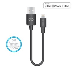 Naztech Mfi Lightning Charge and Sync USB Cable 6 inch - Black  13432