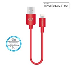 Naztech Mfi Lightning Charge and Sync USB Cable 6 inch - Red