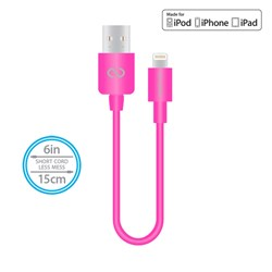 Naztech Mfi Lightning Charge and Sync USB Cable 6 inch - Pink  13435