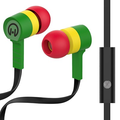 HyperGear Low Ryder Earphones with Mic - Green and Yellow