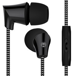 HyperGear Sound Wavez Braided Earphones - Black