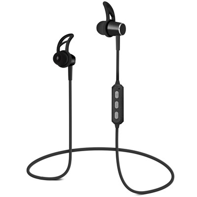 HyperGear MagBuds Wireless Aluminum Alloy Earphones - Black