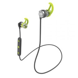 Puregear Pureboom Wireless Sweat Resistant Sport Headphones With Mic - Black And Green