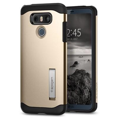 brand new 9f2e0 49730 LG G6 Compatible Spigen SGP Slim Armor Case - Champagne Gold A21CS21240