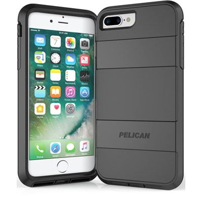 best cheap a51c7 929ec Apple iPhone 8 Plus Pelican Voyager Rugged Case With Kickstand Holster And  Screen Protector - Black