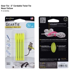 Geartie Cordable 3 Inch 4 Pack - Yellow