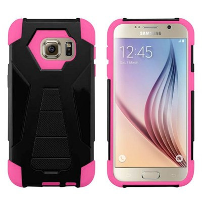 Samsung Compatible HYBRID Combo Cover with Kickstand - Pink  HYBTB-SAMGS7-PK