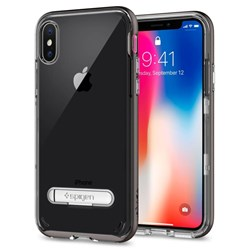 Apple Spigen Crystal Hybrid Case With Kickstand - Gunmetal  057CS22144