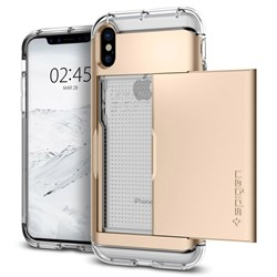 Apple Compatible Spigen Crystal Wallet Case - Champagne Gold