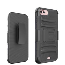Apple Compatible Armor Style Case with Holster - Black  1AMH-IPH7PLUS-BKBK