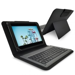 Puregear Universal Keyboard Folio Case - Fits Most 8.9 To 10.1 Inch Tablets - Black
