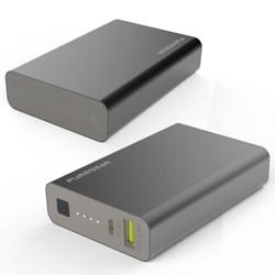 Puregear Purejuice 10k Power Bank Backup Battery (10500 Mah) With Led Battery Indicator - Black