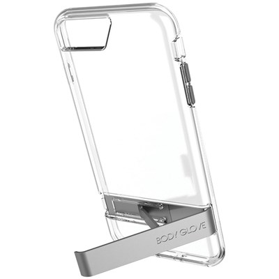 Apple Plus Body Glove Elevate Series Case - Clear With Gray Metal Kickstand  9625101