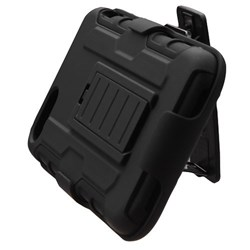 Apple Compatible Armor Style Case with Holster - Black and Black