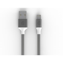 Griffin Usb To Lightning Usb Premium Braided Charge-sync Cable (10 Ft Length) - Silver