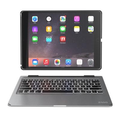 apple Zagg Slim Book Bluetooth Keyboard With Detachable Case
