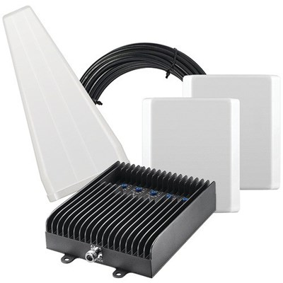 Surecall Fusion5s Cellular Signal Booster Kit with Yagi and Two Panel Antennas