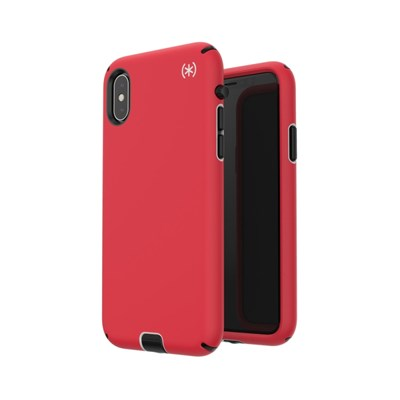 detailed look 0d8a4 51363 Apple iPhone X Speck Presidio Sport Case - Heartrate Red And Sidewalk Gray  And Black 117133-6685