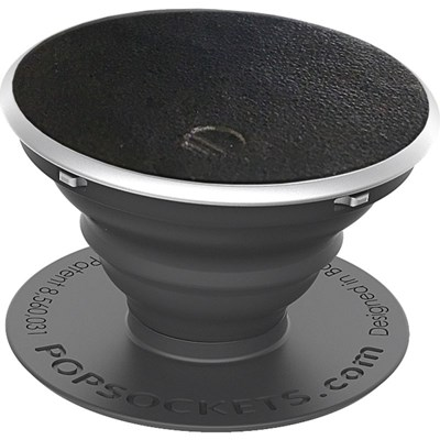 Popsockets - Vegan Leather Device Stand And Grip - Black