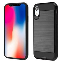 Apple Hybrid Protector Cover - Black and Black Brushed
