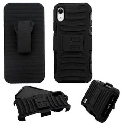 Apple Advanced Armor Stand Protector Cover Combo with Black Holster - Black
