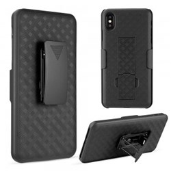 Apple Luxmo The Skew Snap On Case PC with Holster Combo Max - Black