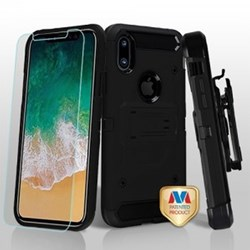 Apple 3-in-1 Kinetic Hybrid Protector Cover Combo with Black Holster - Black