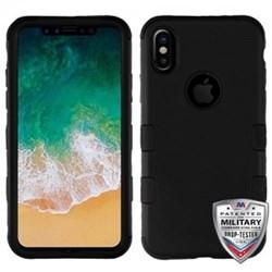 Apple MyBat TUFF Hybrid Phone Protector Cover - Rubberized Black
