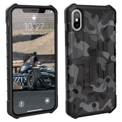 Apple Urban Armor Gear Pathfinder Case - Black Camo  IPHX-A-BC