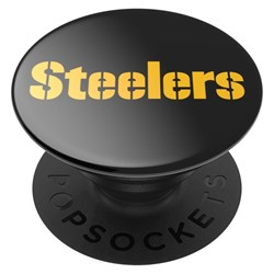 Popsockets - Popgrips Nfl Licensed Swappable Device Stand And Grip - Pittsburgh Steelers Helmet Gloss