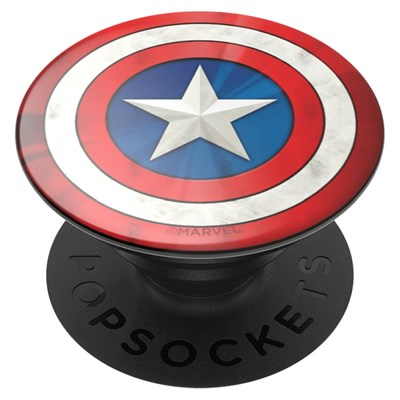 Popsockets - Popgrips Licensed Swappable Device Stand And Grip - Captain American Icon