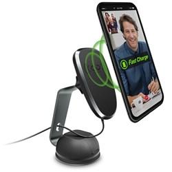 Naztech MagBuddy Wireless Charge Desk Mount - Gunmetal