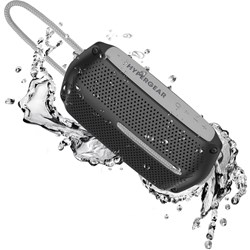 HyperGear Wave Water Resistant Wireless Speaker - Black / Grey