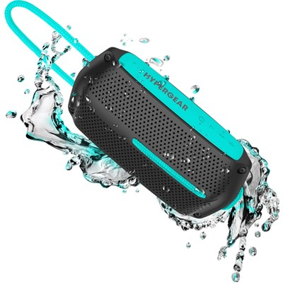 HyperGear Wave Water Resistant Wireless Speaker - Black and Teal