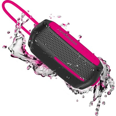 HyperGear Wave Water Resistant Wireless Speaker - Black and Pink