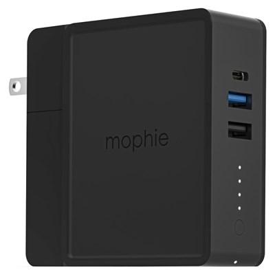 Mophie - Powerstation Hub Wireless Charging Power Bank 6,000 Mah - Black