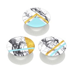 Popsockets - Popminis Device Stand And Grip Three Pack - White Marble Glam