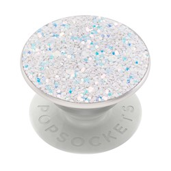 Popsockets - Popgrips Premium Swappable Device Stand And Grip - Sparkle Sn White