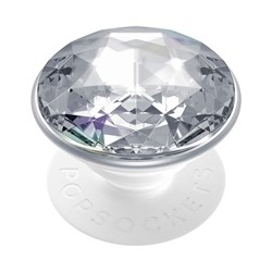 Popsockets - Popgrips Premium Swappable Device Stand And Grip - Disco Crystal Silver