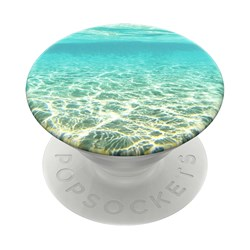 Popsockets - Popgrips Swappable Nature Device Stand And Grip - Blue Lagoon
