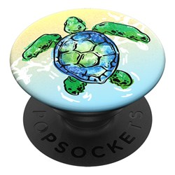 Popsockets - Popgrips Swappable Nature Device Stand And Grip - Tortuga