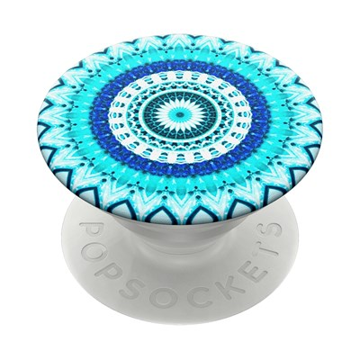 Popsockets - Popgrips Swappable Abstract Device Stand And Grip - Blue Floral Mandala