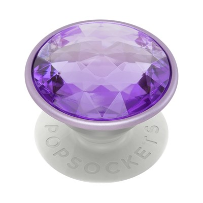 Popsockets - Popgrips Premium Swappable Device Stand And Grip - Disco Crystal Orchid