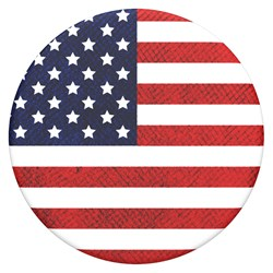 Popsockets - Popgrips Icon Swappable Device Stand And Grip - Vintage American Flag